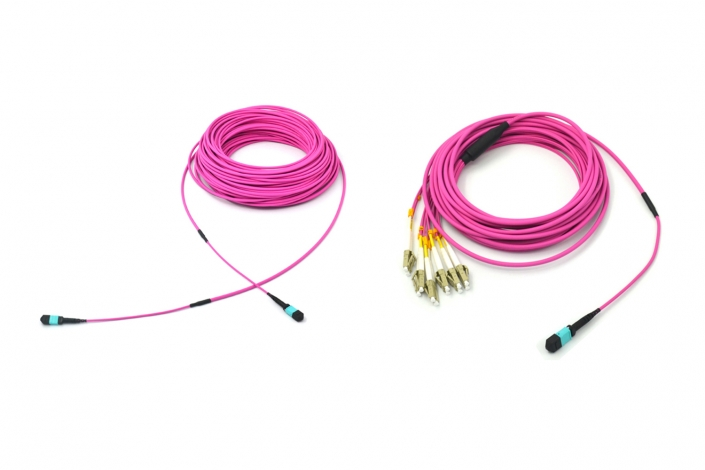 12core Mpo Lc Om4 Pink 4.5mm Patch Cable 3