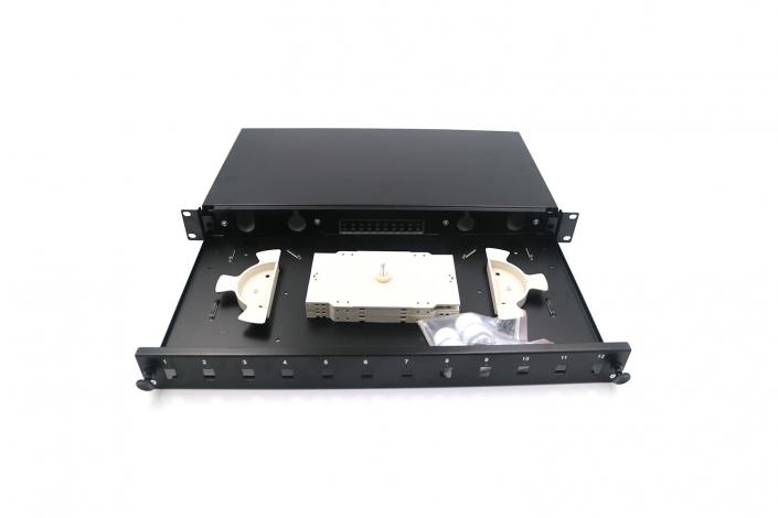 Fiber patch panel Fiber 12Port Simplex Sliding Patch Panel Without Rail