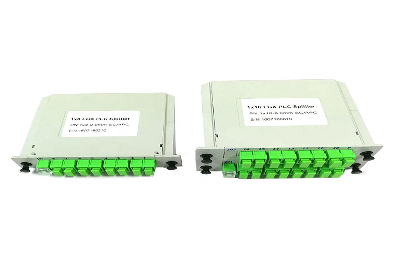ftth 16 way lgx plc splitters sc apc
