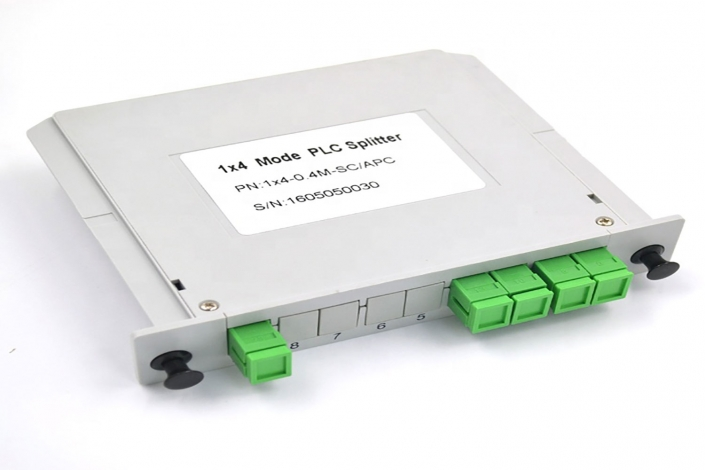 4 way lgx box plc fiber optical splitters