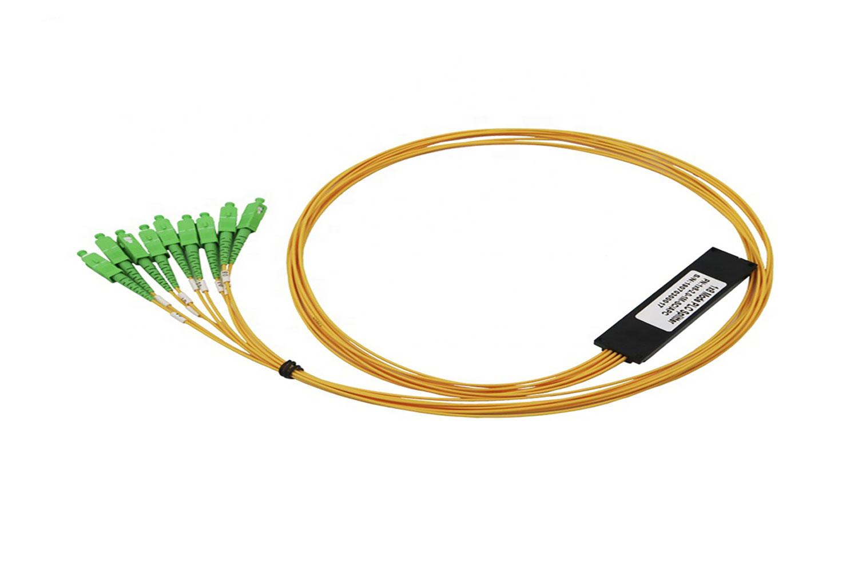 8 way plc splitters sc apc ftth fiber optical