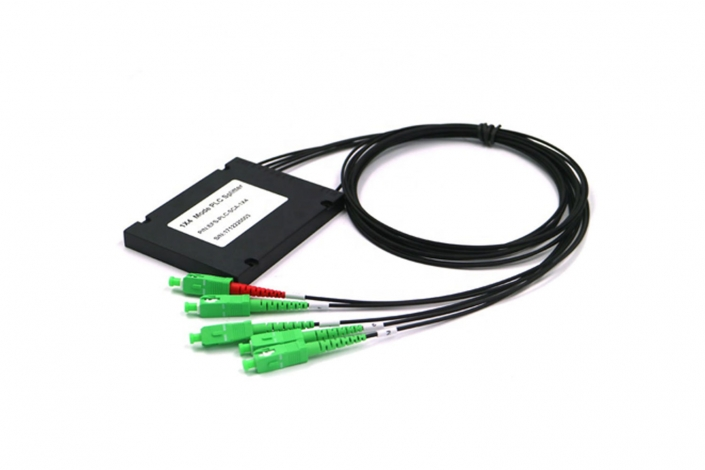 ftth black 4 way abs plc splitters
