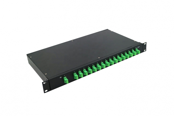plc splitters rack mount sc apc 16 way ftth