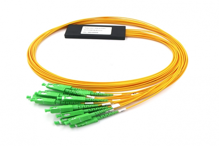 ftth 16 way sc apc fiber optical plc splitters mini abs type