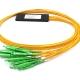 ftth 16 way sc apc fiber optical plc splitters mini abs type