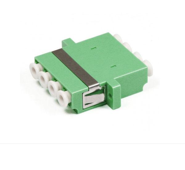 LC APC Quad Fiber Optic Adapter